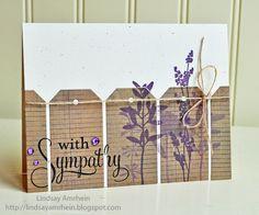 handmade card, Tag fence - how creative