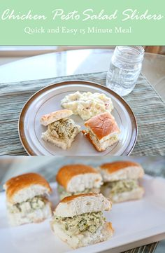 A quick and easy meal idea with a recipe for Chicken Pesto Salad Sliders. #EffortlessMeals #ad