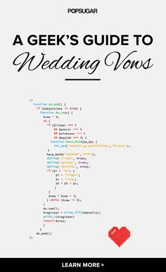Vow inspiration for coding geeks, Whovians, and more.