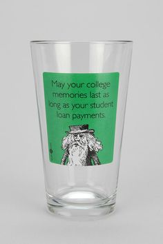 Someecards Student Loan Pint Glass