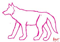 This is a wolf reference anyone can use for reference. Do not claim it as your own. This should be anatomically correct. If you want to use as lineart, ask me first. #30doodles. Repin with credit. Drawn by Blaze Runner ( Alphaheart ).