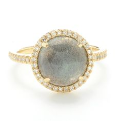 Greenwich Jewelers | Greenwich Collection Labradorite and Diamond Ring