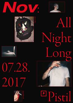 Nov: All Night Long - CY — Graphic designer