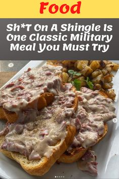 Foods To Eat, Us Foods, Veal Recipes, Cooking Recipes, Creamed Chipped Beef, Redneck Recipes, Dinner Ideas, Dinner Recipes, Dinners