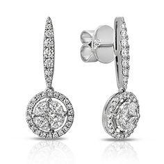 Alluring Asscher Black Topaz Crystal 18K White Gold Filled Huggie Hoop Earrings