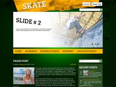 Skate is excellent solution for skateboarding fans. Easy to use administrative panel, custom widgets, an eye catching related posts and lots of other powerful features provide a great base to build on.
