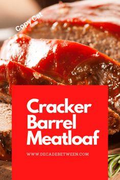 Ritz Cracker Meatloaf Recipe, Meatloaf Recipe With Crackers, Cracker Barrel Meatloaf, Ritz Cracker Recipes, Cracker Barrel Recipes, Hamburger Recipes, Meatloaf Recipes, Meat Recipes, Yummy Recipes
