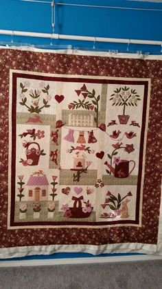 Le Jardin quilt made by SteveAnna. Pattern by Bunny Hill Designs.  Longarmed by Le Ann Weaver of Persimmon quilts.