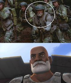 captain rex on endor?! How OLD would he be??  I don't care, I love it.