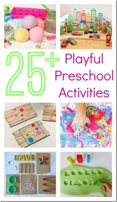 Over 25 playful learning activities for preschool aged children