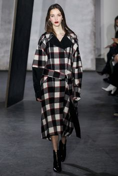 3.1 Phillip Lim - Fall 2015 Ready-to-wear - check duffle / outerwear // interesting length