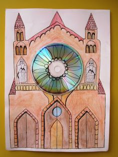 School Architecture, Architecture Art, Stained Glass Rose, 6th Grade Art, Catholic Art, Art Plastique, Middle Ages, Art School, Art Lessons