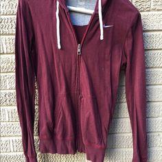 Nike maroon jacket EUC Worn once or twice, extremely soft fabric that has some stretch. Size medium. Nike Jackets & Coats
