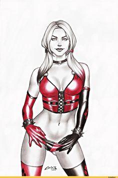 Harley Quinn,Харли Квинн, Харлин Квинзель,DC Evil,Злодеи,DC Comics,DC Universe, Вселенная ДиСи,фэндомы,DC Erotic,Эротика,Carlos Braga