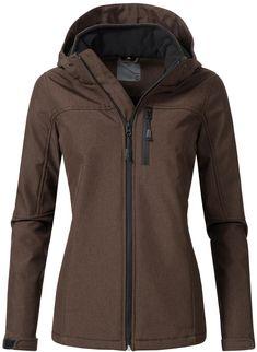 87e4df240e3d OTTO Damen PEAK TIME Softshelljacke L62000AS sportliche Outdoor-Jacke mit  Kapuze grau   04058847015790
