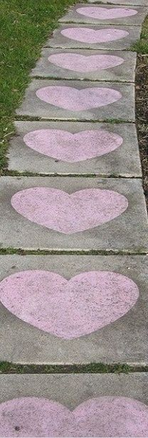 Romantic Idea: Decorate neighborhood sidewalks with chalk then go for a walk with your sweetie to reveal your love notes/art.