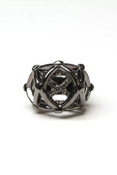 han cholo - labyrinth ring (gunmetal) - Han Cholo   80's Purple