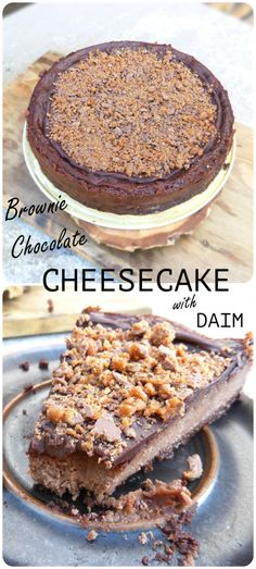 This dessert has a gluten free, brownie base and a creamy mascarpone and cream cheese filling. It's topped with a rich, dark chocolate ganache and a liberally sprinkling of Daim!