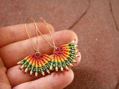 pendientes macrame pendientes tribales colorfull por yasminsjewelry