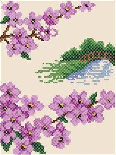 "Free cross-stitch pattern ""Sakura(2)"" 