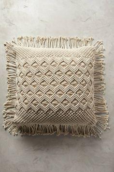 Anthropologie Fringed Diendra Floor Pillow