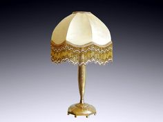 French Art Deco Table Lamp by Georges DUNAIME - http://www.artdecoceramicglasslight.com