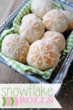 Super simple Snowflake Rolls that start out from Frozen Bread Roll Dough