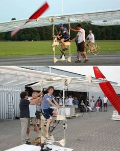 Pedal-Powered Airplane