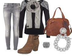 pretty grey - Casual Outfit - stylefruits.nl