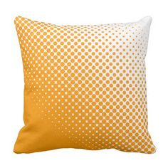 Orange and White Halftone Dots Outdoor Pillow Outdoor Throw Pillows, Decorative Throw Pillows, Dots, Orange, Stitches, Accent Pillows, Decor Pillows
