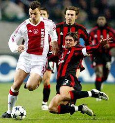 ~ Zlatan Ibrahimovic of Ajax against Paolo Maldini and Andrea Pirlo of AC Milan ~