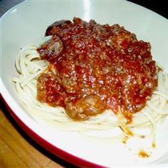 Old Italian Meat Sauce -- my husband is making this tonight and it already smells amazing!!