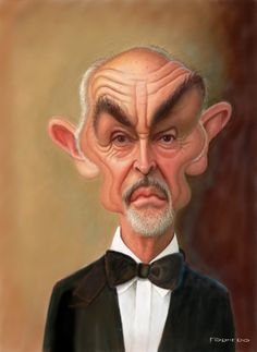 CARICATURES-SEAN CONNERY-FORNERO