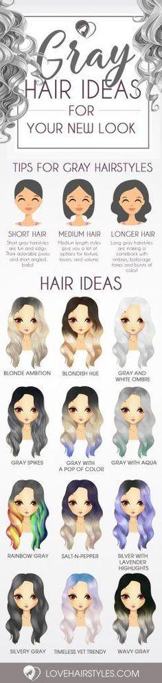 Nouvelle Tendance Coiffures Pour Femme 2017 / 2018 Image Description Magnifiques styles de cheveux gris