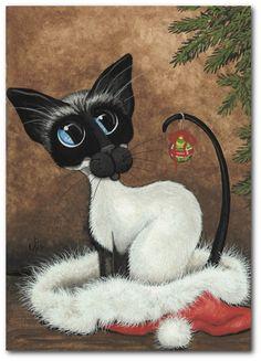 """""""Siamese Cat Holiday"""" par Amy Lyn Bihrl"""