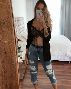 Tattoos and cardigan - ChicLadies. Mode Outfits, Fall Outfits, Casual Outfits, Summer Outfits, Girl Fashion, Fashion Looks, Fashion Outfits, Womens Fashion, Outfit Goals