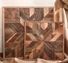 Reclaimed wood quilt square  36 inch  Geometric wall art