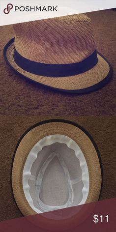 👒Fedora Hat Caramel colored with black trim and ribbon Fedora Hat. Worn twice. Makeup mark on inside brim of the hat. Cleaned the best I could. No rips. No Trades. Make an offer 🙋🏻💕👒 Tilly's Accessories Hats