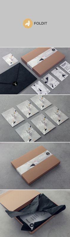 identity / foldit - paper sculptures