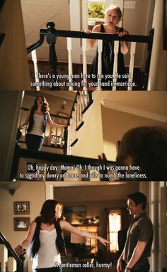 There's a you man here to see you ~ Easy A (2010) ~ Movie Quotes