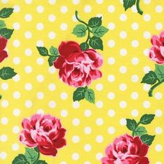 Michael Miller House Designer - Retro Florals - Lucy in Sunny