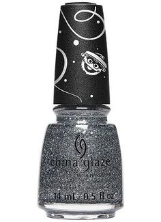China Glaze Nail Polish, Since fl. Dense metallic charcoal micro-glitter mixed with scattered larger silver glitter in a dark gray/teal base. Can be opaque on nails with coats. China Glaze Nail Polish, Opi Nail Polish, Essie Colors, Nail Hardener, Color Club, Nail Treatment, Nail Polish Collection, Feet Care, Silver Glitter