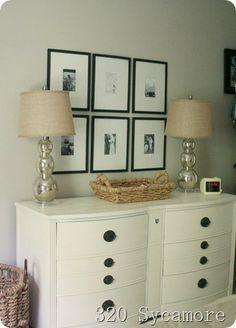 dresser and frames