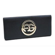 Anais Gvani Women's Textured Genuine Italian Leather Bi-Fold Clutch Wallet Purse -Black Anais Gvani Bags. $54.99
