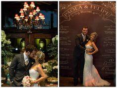Felizes, Paola e Felipe posam para mais alguns registros - Decoração rústico-chique - Casamento Paola Gonzalez e Felipe Sousa
