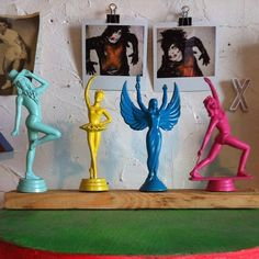 Trophies, I so want to do this!!...easy to buy the figures here > http://stores.ebay.com/Jesse-on-Black-Bear?_dmd=2&_nkw=trophy