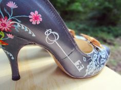 Woodland Hand Painted Wedding Shoes by LoveMirandaMarie on Etsy