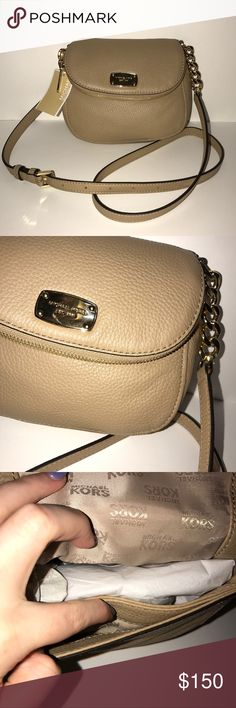 Michael Kor's New With Tags Crossbody Purse! 100% authentic, never used, brand new, no flaws! Camel color! Retails for 178! Michael Kors Bags Crossbody Bags