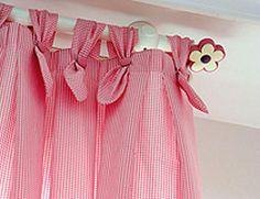 como hacer cortinas con presillas y botones