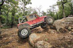 Crawling some rocks at the offroad park! #jeep #jeepers #offroad #offroading #genright #forest